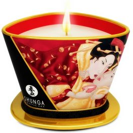 SHUNGA MINI CARESS BY CANDELIGHT VELA MASAJE FRESA Y VINO 170ML