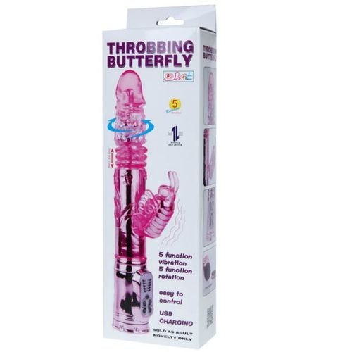 LY-BAILE VIBRADOR CON ROTACION Y RABBIT THROBBING BUTTERFLY